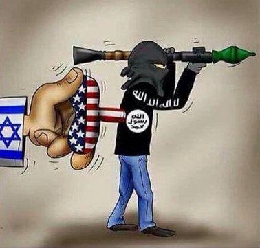 Israel-US-ISIS-finance-cartoon