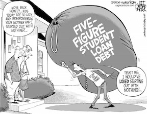 student loan cartoon