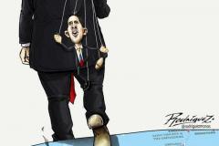 Guaido-trump-puppet-cartoon
